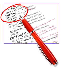 Red Pen on Dictionary page